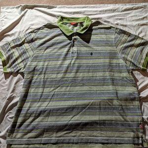 Izod XL short sleeved mens polo shirt
